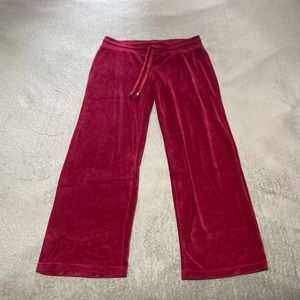 """Central Park velour feel pant size large. So comfy! Waist approx 33"""", length 29"""""""